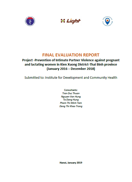 Final Evaluation: Prevention of Intimate Partner Violence against Pregnant and Lactating Women (Viet Nam )