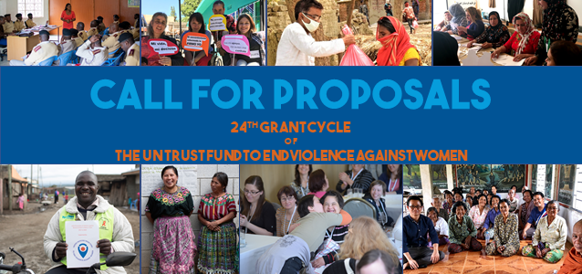 The UN Trust Fund's 24th Call for Proposals is open for submission of concept notes through 4 November 2020.
