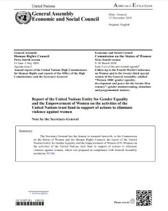 UN Trust Fund Report to the Commission on the Status of Women 2020