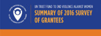 Case Study: UN Trust Fund support helps organizations raise capacity and funds