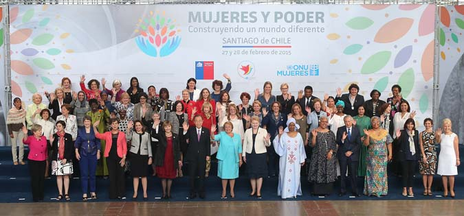 """Take intense measures"" to accelerate women's full and equal participation in politics, leaders say in Chile"