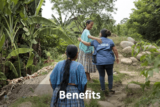 Benefits. (Photo: Indigenous women of Guatemala's Polochic valley are feeding their families, growing their businesses and saving more money than ever before, with the help of a joint UN programme that's empowering rural women. Credit: UN Women/Ryan Brown.)