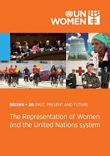 Representation of Women and the United Nations System publications cover
