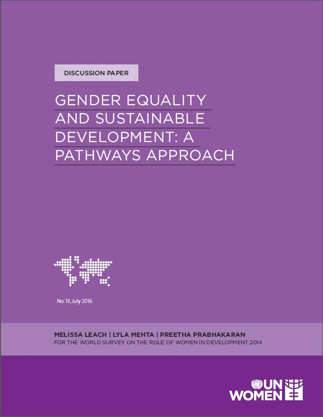 Gender Equality and Sustainable Development: A pathways approach