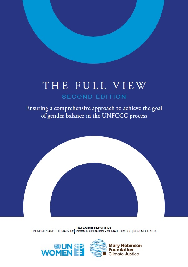The Full View: Ensuring a comprehensive approach to achieve the goal of gender balance in the UNFCCC process