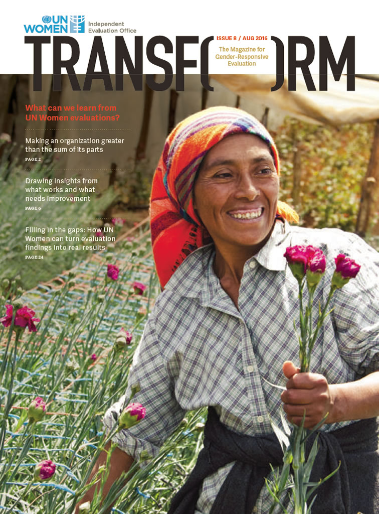 TRANSFORM – The magazine for gender-responsive evaluation – Issue 8, August 2016