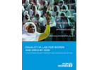 Equality in law for women and girls by 2030: A multistakeholder strategy for accelerated action
