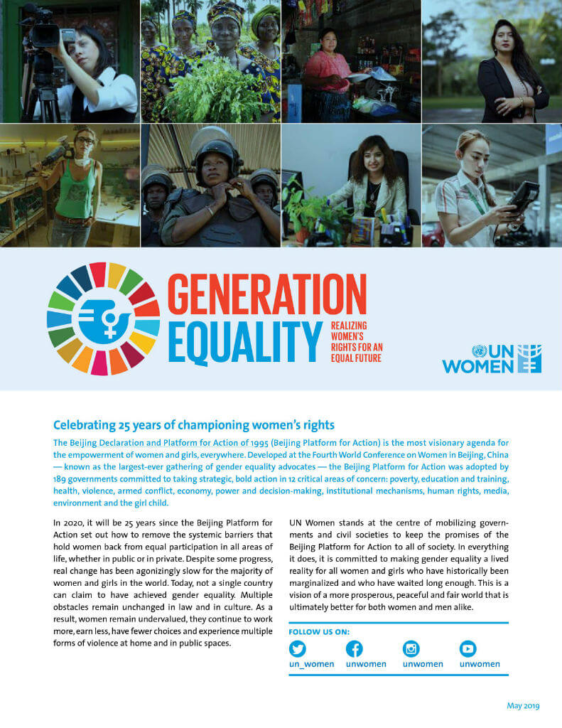 Generation Equality: Realizing women's rights for an equal future