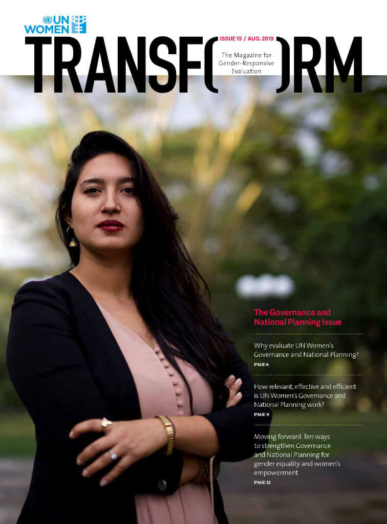 TRANSFORM – The magazine for gender-responsive evaluation – Issue 15, August 2019