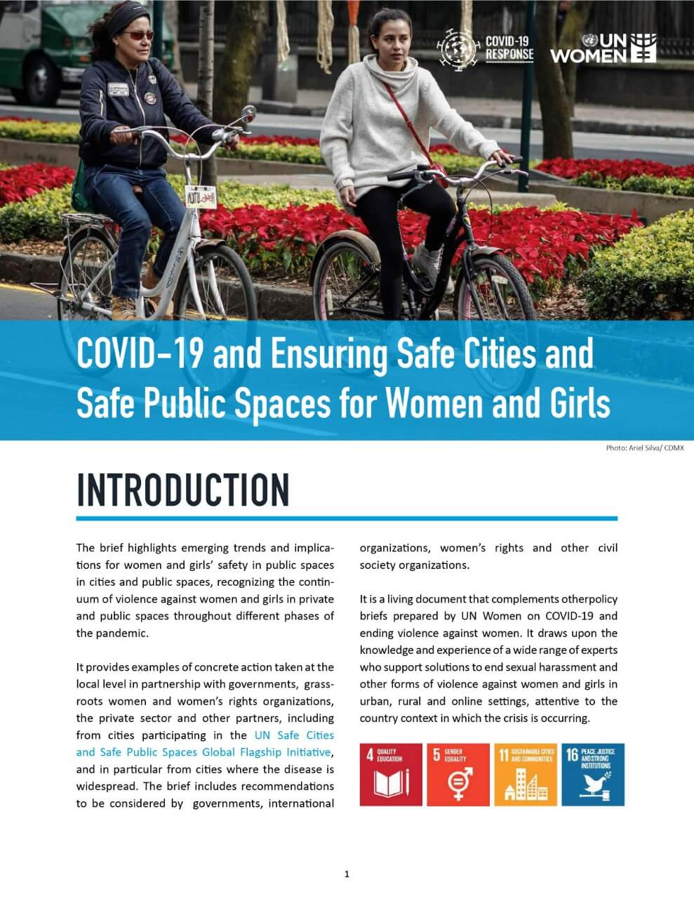 COVID-19 and ensuring safe cities and safe public spaces for women and girls