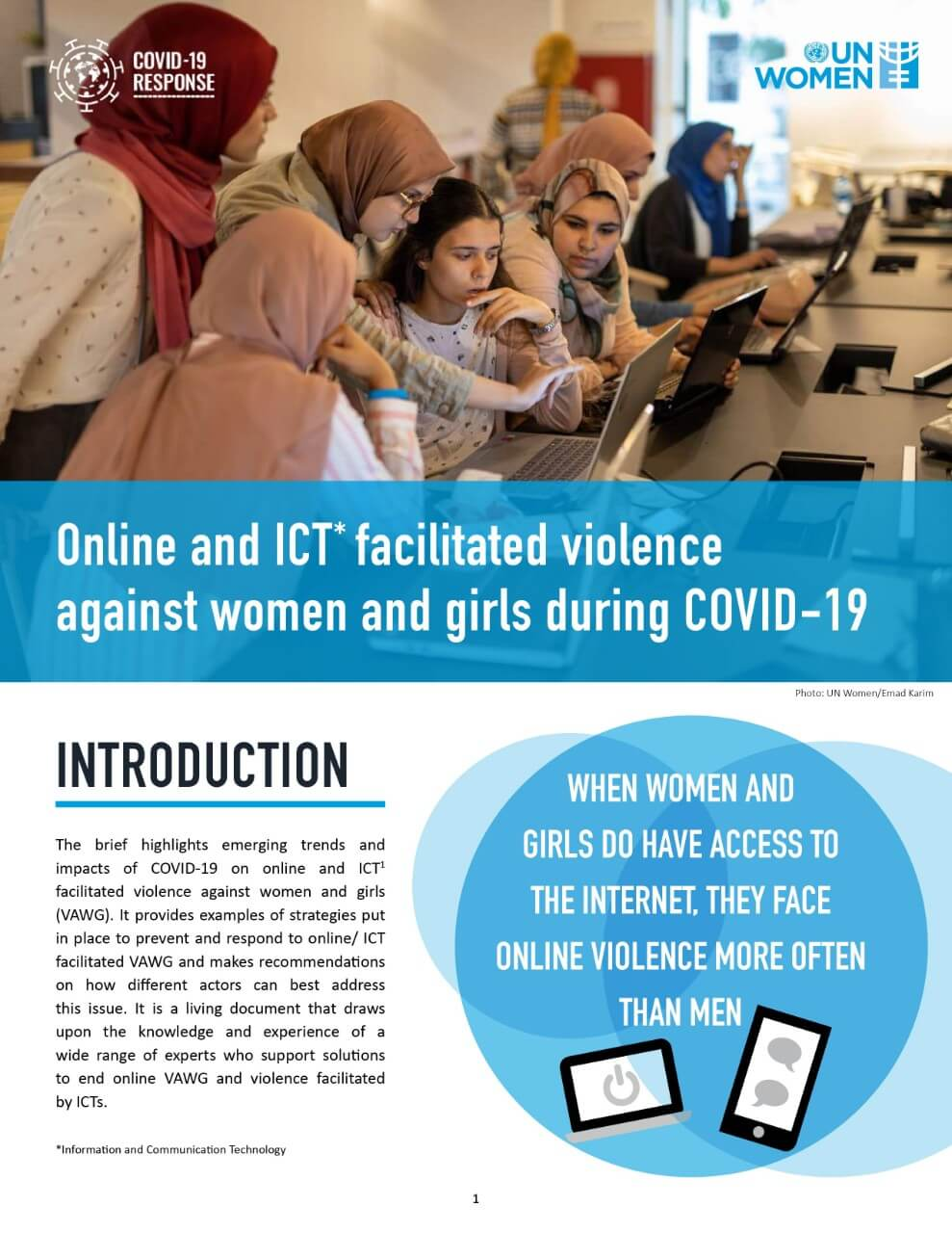 Online and ICT-facilitated violence against women and girls during COVID-19