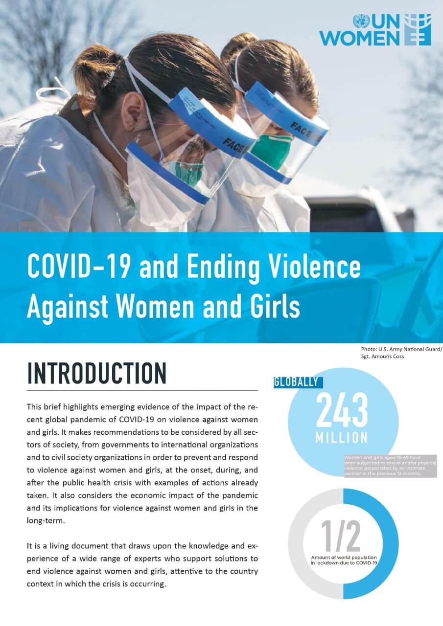 Issue brief: COVID-19 and ending violence against women and girls