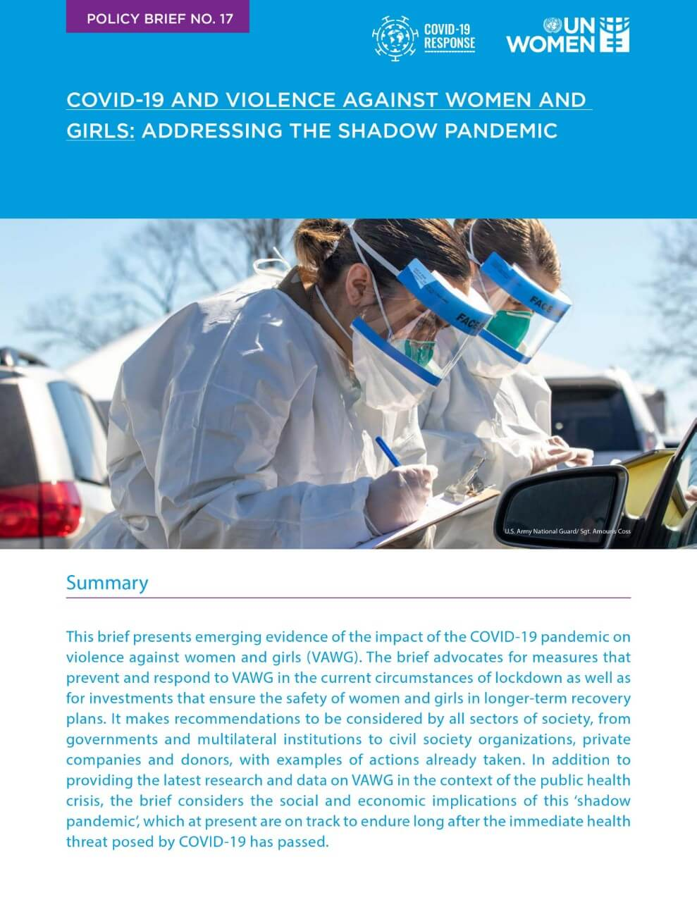 COVID-19 and violence against women and girls: Addressing the shadow pandemic
