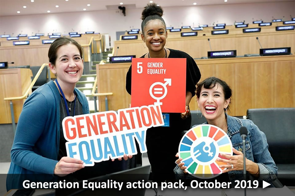 Generation Equalitty action pack, October 2019