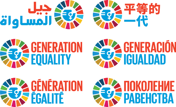 Preview of the Generation Equality campaign logos