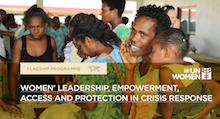 Women's leadership, empowerment, access and protection in crisis response