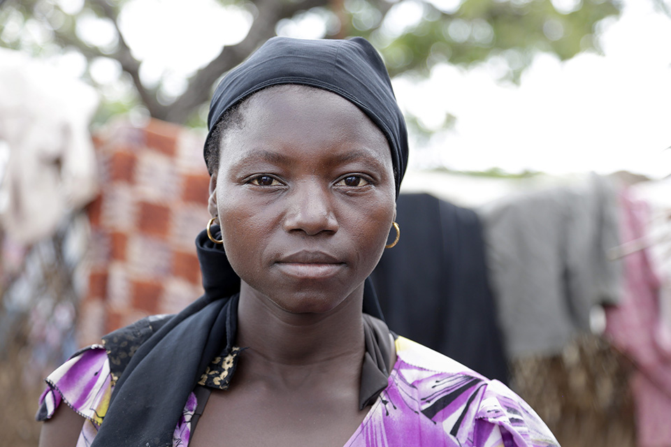 Hawa, 23, was eight months pregnant when her husband was killed in the fighting in CAR. Photo: UN Women/Ryan Brown