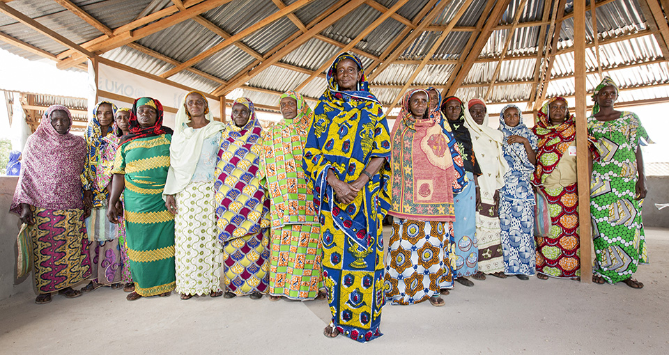 Ardo Djibo Fadimatou (centre, in blue and yellow), 64, lost eight of her 15 children during the conflict in CAR. Photo: UN Women/Ryan Brown