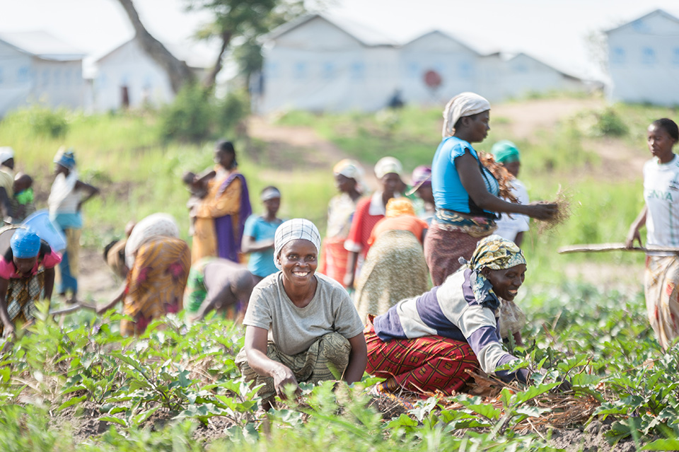 he women learn how to plant many different kinds of crops. After working in the collective, some of them are able to plant and harvest vegetables outside of their temporary houses at the refugee camp.  Photo: UN Women/Catianne Tijerina
