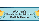 Infographic: Women's meaningful participation builds peace