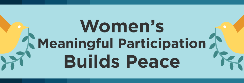 Women's meaningful participation builds peace
