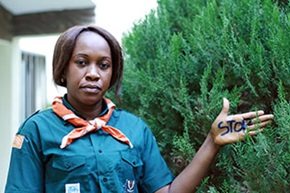Desiree Akpa Akpro Loyou, 37, is a social worker and Deputy Commissioner General responsible for training, for the World Association of Girl Guides and Girl Scouts (WAGGGS) in Cote d'Ivoire. Photo: World Association of Girl Guides and Girl Scouts