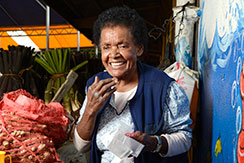 Anisa Marama, a market vendor in Fiji. Photo: UN Women/Eva Schroeder
