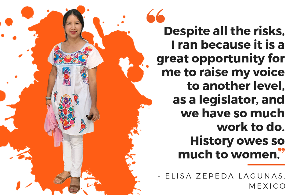 Despite all the risks, I ran because it is a great opportunity for me to raise my voice to another level, as a legislator, and we have so much work to do. History owes so much to women.
