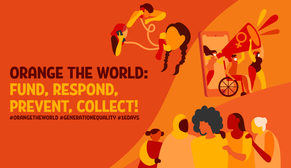 Orange the world: Fund, respond, prevent, collect