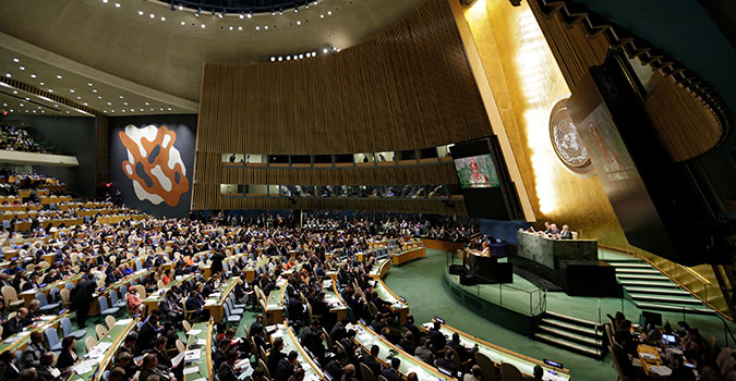 United Nations General Assembly Hall. Photo: UN Women/Ryan Brown