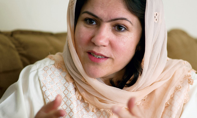 """I want my daughters to be respected as human beings,"" says Fawzia Koofi, a trailblazer in Afghanistan. © Johannes Eisele/AFP/GettyImages© Johannes Eisele/AFP/GettyImages"