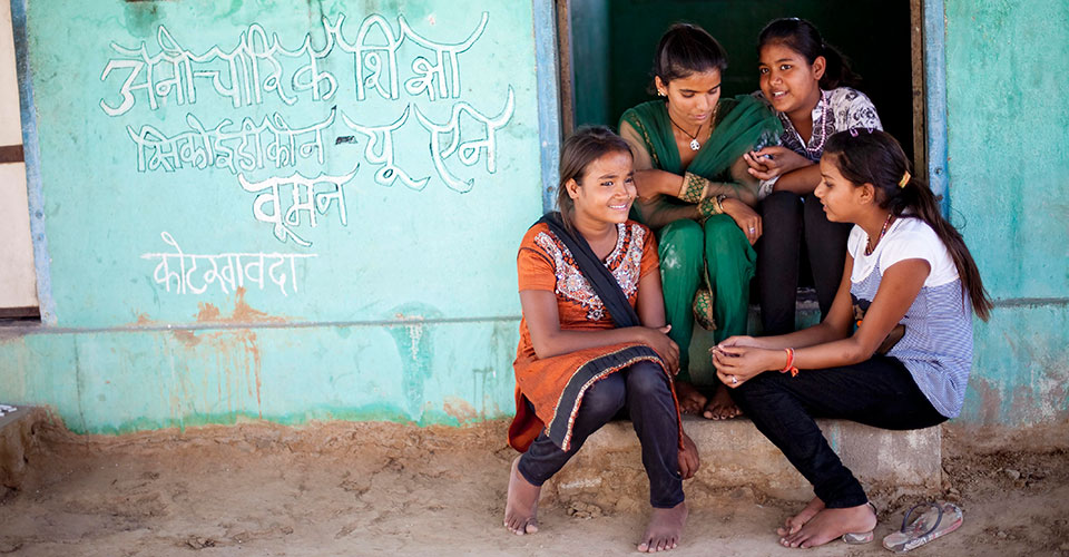 Girls in India. Photo: UN Women/Shaista Chishty