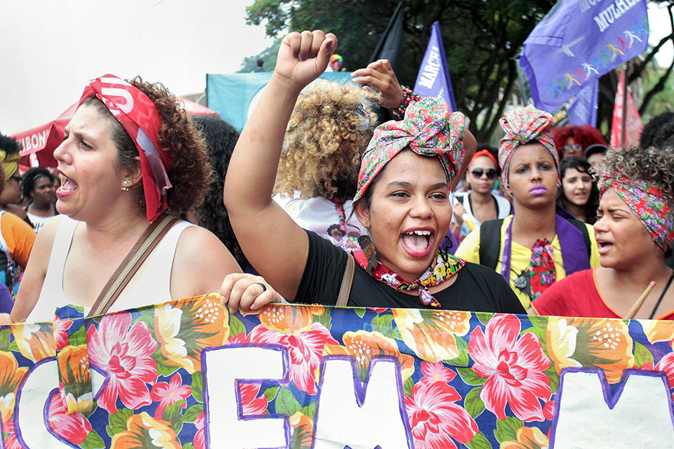 Women in Brazil march for women's rights. Photo: UN Women/Bruno Spada