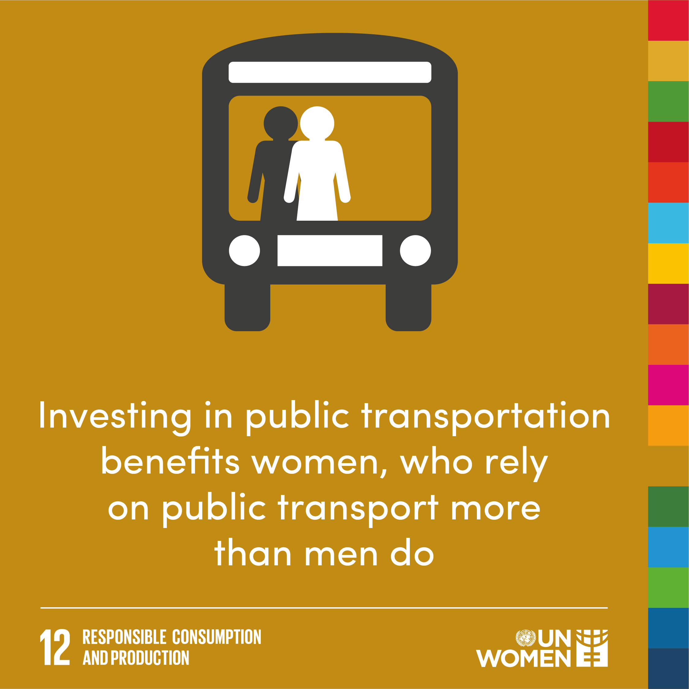 Investing in public transportation benefits women, who rely on public transport more than men do