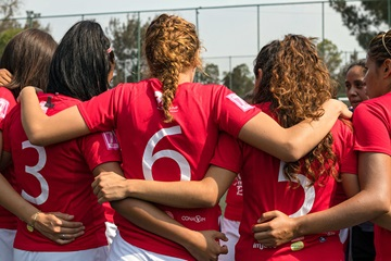 On 8 May 2018, the HeForShe Flash Tournament brought together women's soccer teams from eight universities in Mexico. Photo: UN Women/Dzilam Méndez