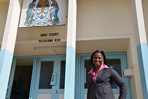 Devotha Christopher is a District Court Magistrate who was trained at a TAWJA workshop at the country's High Court. Photo credit: UN Women/Laura Beke