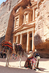 "The ""Treasury"" is one of the most frequented tourist sights of Petra, Jordan.  Photo credit: Maria Fanlo"