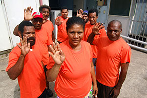 As part of 25 October commemorations, Port Moresby, Papua New Guinea launched a song competition to advocate against all forms of violence against women. Photo: UN Women