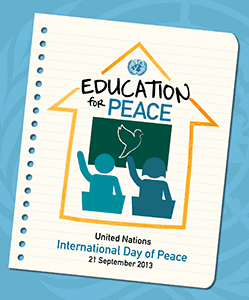 Education for Peace logo - International Day of Peace