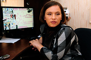 Ludmila Galbura opened her own business that provides translation services after seeking assistance from the Joint Information and Services Bureau in her district.