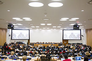 "UN Women held a forum on the theme, ""Challenges and achievements in the implementation of the Millennium Development Goals for women and girls: The road ahead"". The event was organized in preparation for the 58th session of the Commission on the Status of Women.  Photo: UN Photo/JC McIlwaine"