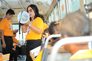 Serving three million commuters per day, the BMTA has provided training to its staff for a better understanding of sexual harassment and provided tools to address it. Photo: UN Women/KithandKin/Pornvit Visitoran