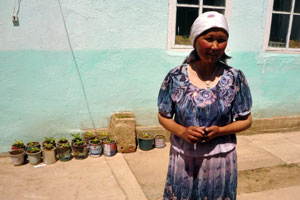 With sewing and sowing, self-reliance blooms in Central Asia