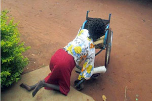 Apiyo Anna is a disabled woman from Gulu district whose was evicted from her late husband's land. Her case was received by the Gulu Union of Women with Disabilities in 2013. Photo courtesy of GUWODU.