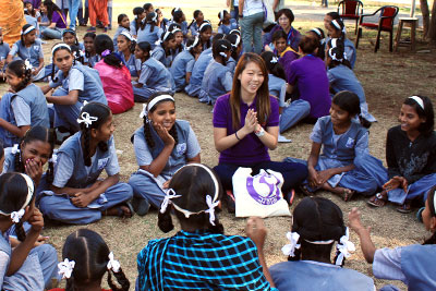 WAGGGS India community visit