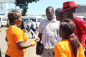 Katswe Sistahood campaigners reach out to men