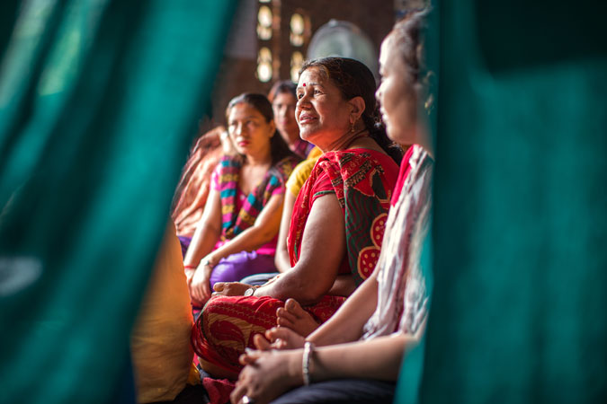 Sabitri Lamichanne, a case worker, at the multipurpose women's centre in Panchkhal on July 1,2015.