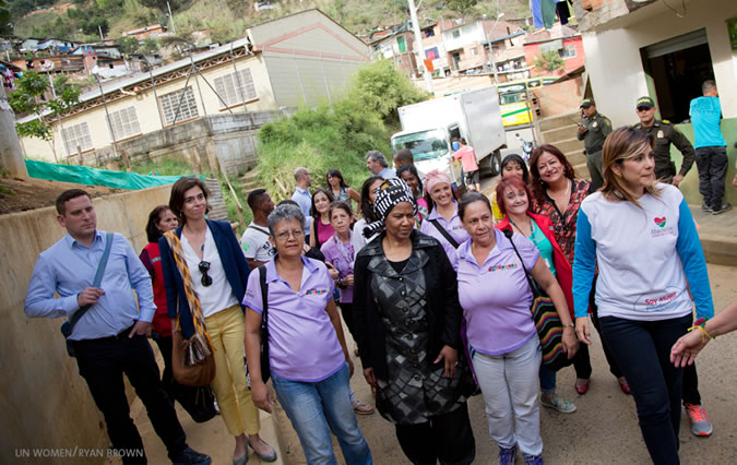 On first visit to Colombia, Executive Director meets women survivors and peacebuilders in Antioquia