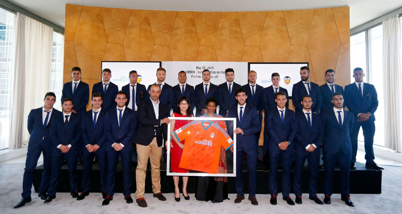 Press release: Valencia Club de Fútbol and UN Women kick off partnership to promote gender equality