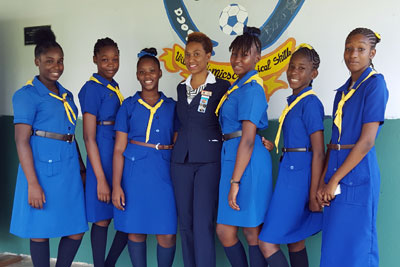 Girl Guides from Grenada.